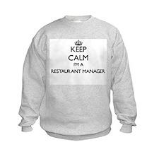 Keep calm I'm a Restaurant Manager Sweatshirt