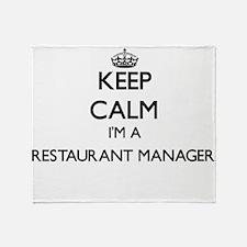 Keep calm I'm a Restaurant Manager Throw Blanket