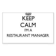Keep calm I'm a Restaurant Manager Decal