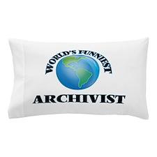 World's Funniest Archivist Pillow Case
