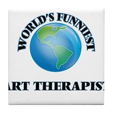 World's Funniest Art Therapist Tile Coaster