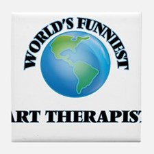 World's Funniest Art Therapist Tile Coaster