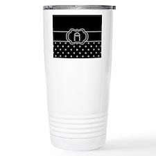 DIAMOND INITIALS: A Travel Coffee Mug
