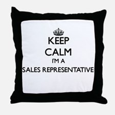 Keep calm I'm a Sales Representative Throw Pillow