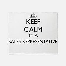 Keep calm I'm a Sales Representative Throw Blanket
