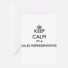 Keep calm I'm a Sales Representativ Greeting Cards