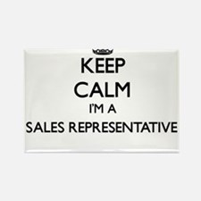 Keep calm I'm a Sales Representative Magnets