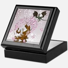Fantasy Faerie Butterflies and Dragon Keepsake Box
