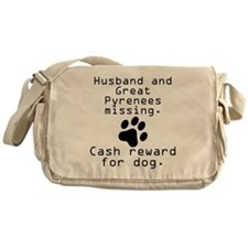 Husband And Great Pyrenees Missing Messenger Bag