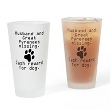 Husband And Great Pyrenees Missing Drinking Glass