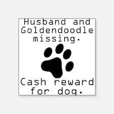 Husband And Goldendoodle Missing Sticker