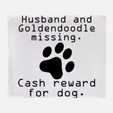 Husband And Goldendoodle Missing Throw Blanket