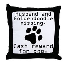 Husband And Goldendoodle Missing Throw Pillow