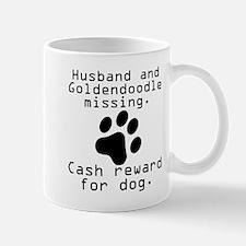 Husband And Goldendoodle Missing Mugs