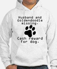 Husband And Goldendoodle Missing Hoodie