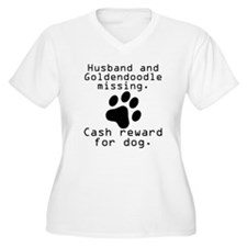 Husband And Goldendoodle Missing Plus Size T-Shirt