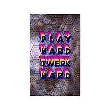 play Hard Twerk Hard 3'x5' Area Rug