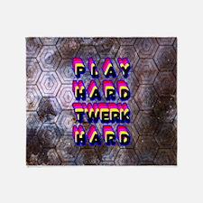 play Hard Twerk Hard Throw Blanket