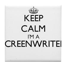 Keep calm I'm a Screenwriter Tile Coaster