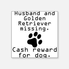 Husband And Golden Retriever Missing Sticker