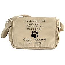 Husband And Golden Retriever Missing Messenger Bag