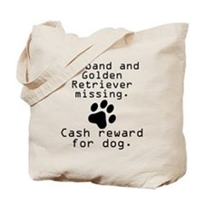 Husband And Golden Retriever Missing Tote Bag