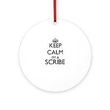 Keep calm I'm a Scribe Ornament (Round)