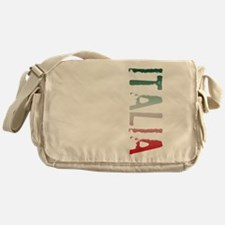 Italia Stamp Messenger Bag