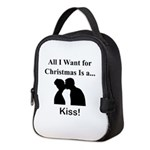 Christmas Kiss Neoprene Lunch Bag