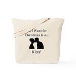 Christmas Kiss Tote Bag