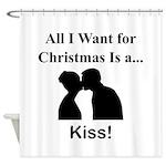 Christmas Kiss Shower Curtain