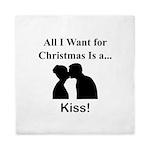 Christmas Kiss Queen Duvet