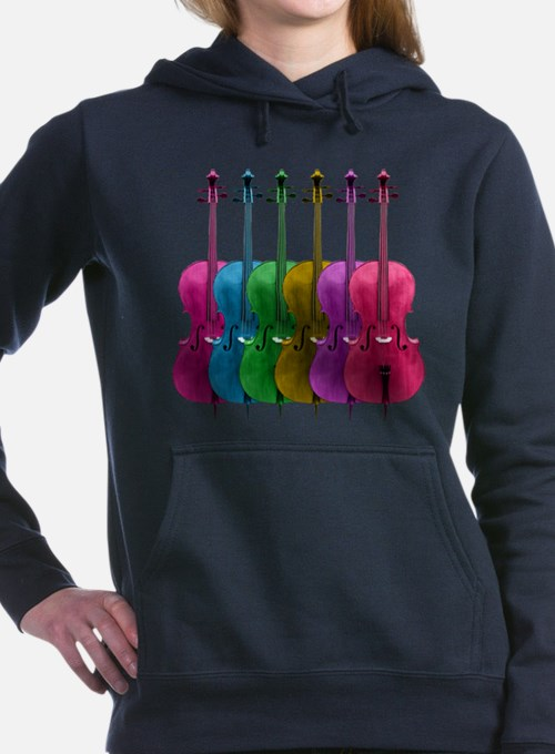 cello-rainbow.png Women's Hooded Sweatshirt