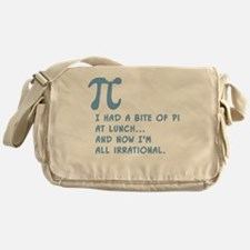 Pi for Lunch Messenger Bag