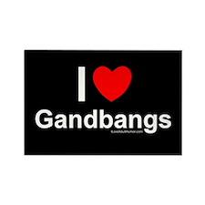 Gangbangs Rectangle Magnet