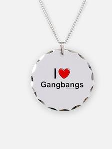 Gangbangs Necklace Circle Charm