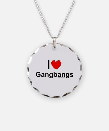 Gangbangs Necklace Circle Charm