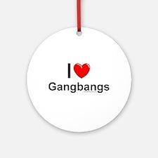 Gangbangs Ornament (Round)