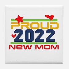 2017 Proud New Mom Tile Coaster