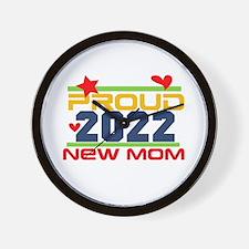 2017 Proud New Mom Wall Clock