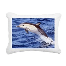 Jumping Dolphin Rectangular Canvas Pillow