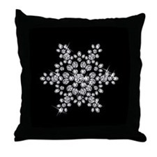 DIAMOND SNOWFLAKE Throw Pillow