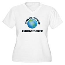 World's Funniest Embroiderer Plus Size T-Shirt