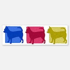 Color Row Chihuahua Bumper Bumper Bumper Sticker