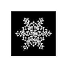 "DIAMOND SNOWFLAKE Square Sticker 3"" x 3"""
