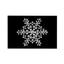 DIAMOND SNOWFLAKE Rectangle Magnet