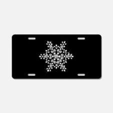 DIAMOND SNOWFLAKE Aluminum License Plate