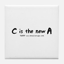 C is the New A Tile Coaster