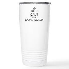 Keep calm I'm a Social Travel Mug