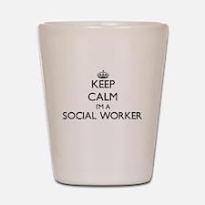 Keep calm I'm a Social Worker Shot Glass